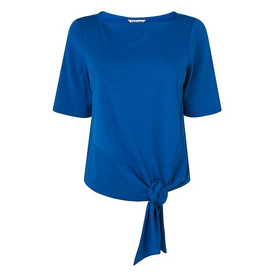 Karlie Blue Cotton Jersey Top