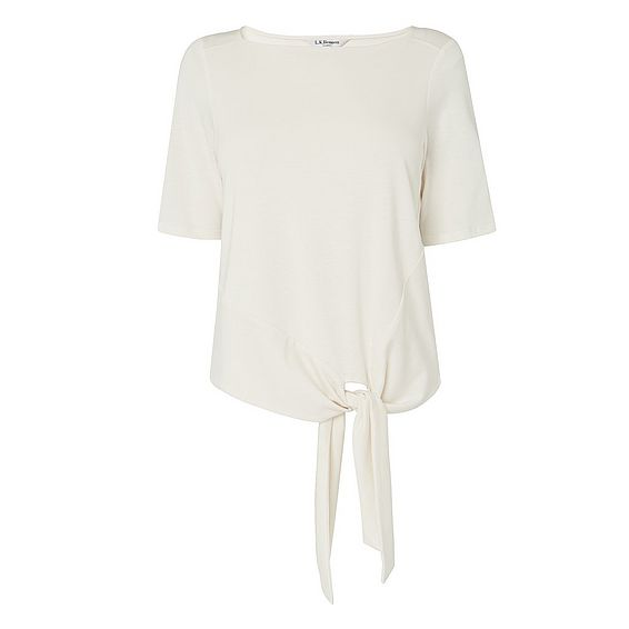 Karlie Cream Cotton Jersey Top