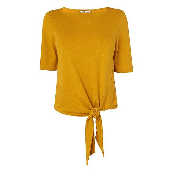 Karlie Yellow Cotton Jersey Top