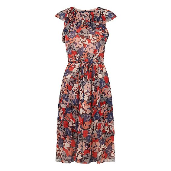 Kayla Floral Silk Dress