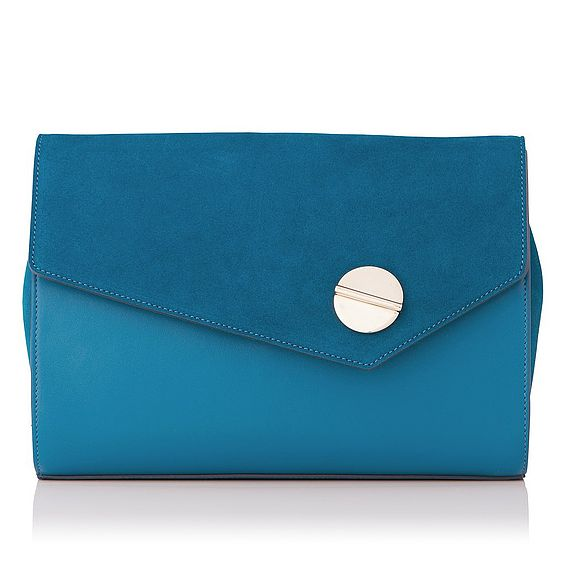 Kendall Blue Suede Shoulder Bag