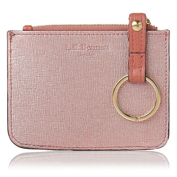 Kendra Metallic Pink Leather Purse