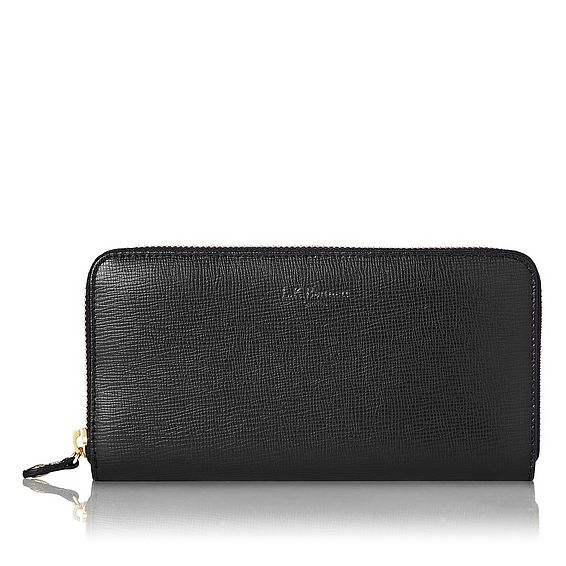 Kenza Black Saffiano Leather Purse