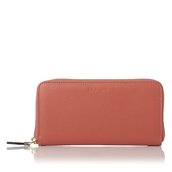Kenza Dark Pink Saffiano Leather Purse