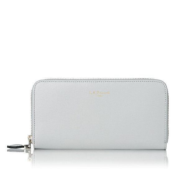Kenza Grey Saffiano Leather Purse