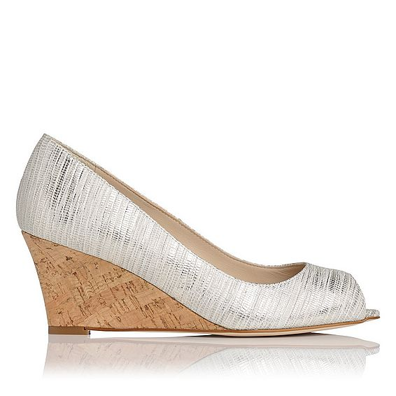 Kiki Metallic Cream Striped Open Courts