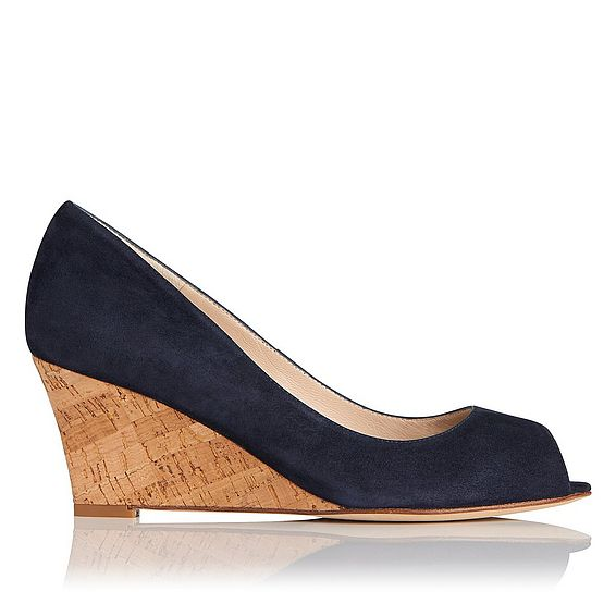 Kiki Navy Suede Open Courts