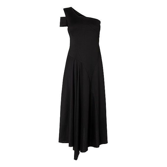 Lavendar Black Viscose Dress
