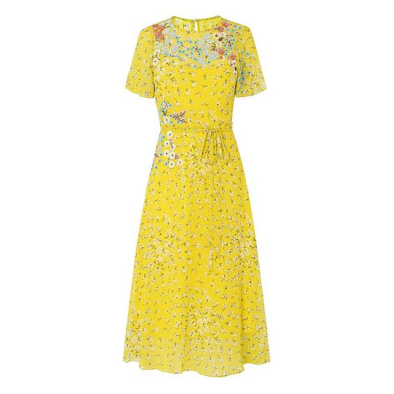 Lela Yellow Silk Dress