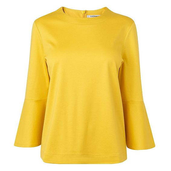 Leon Yellow Cotton Jersey Top