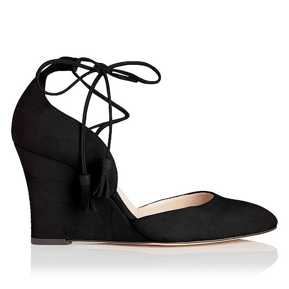 Leticia Black Suede Open Courts