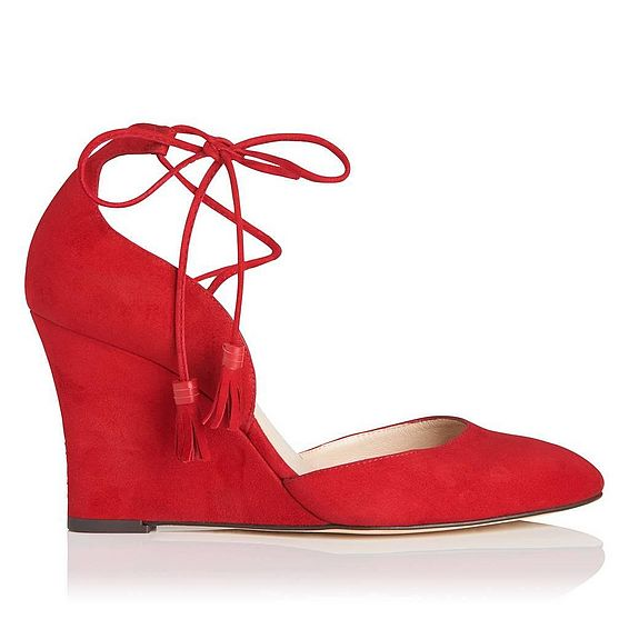 Leticia Red Suede Open Courts