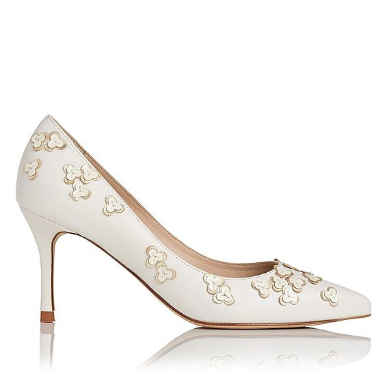 Lilly Cream Gold Leather Closed Courts