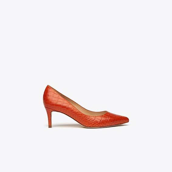 Loren Red Suede Courts
