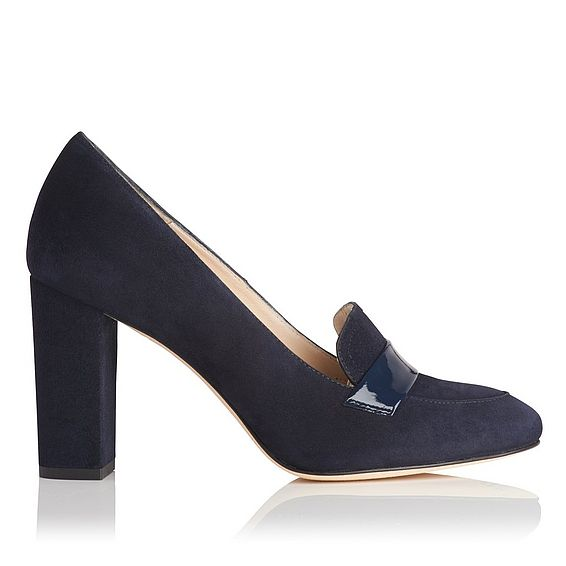 Madeleine Blue Suede Closed Courts