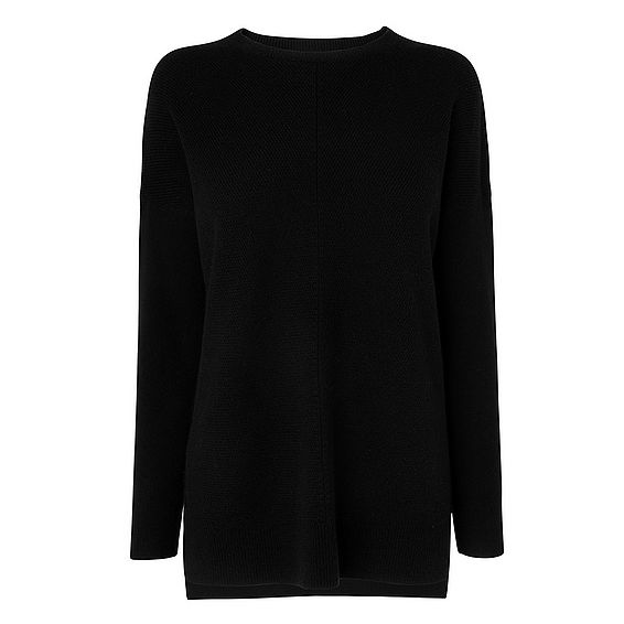 Maeve Black Wool Cashmere Knitted Top