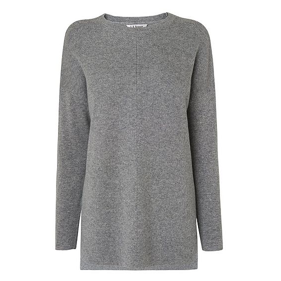 Maeve Grey Cashmere Knitted Top