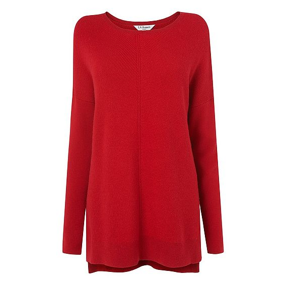 Maeve Red Cashmere Knitted Top