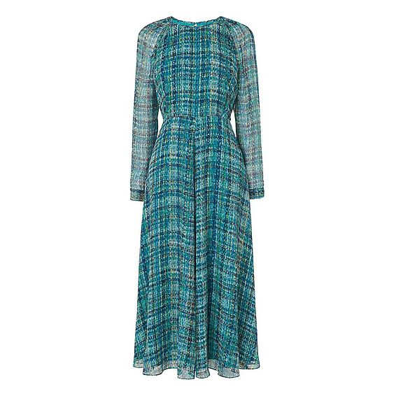 Magda Green Silk Dress