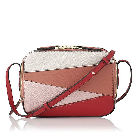 Mariel Pink Saffiano Leather Shoulder