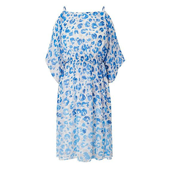 Marnie Blue Silk Printed Dress