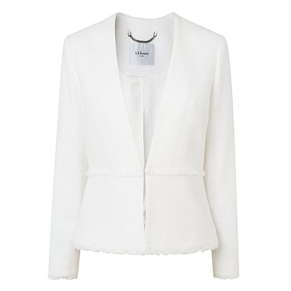 Marsha White Cotton Jacket