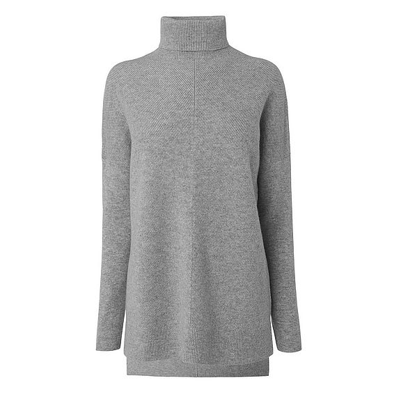 Maya Grey Wool Cashmere Knitted Top
