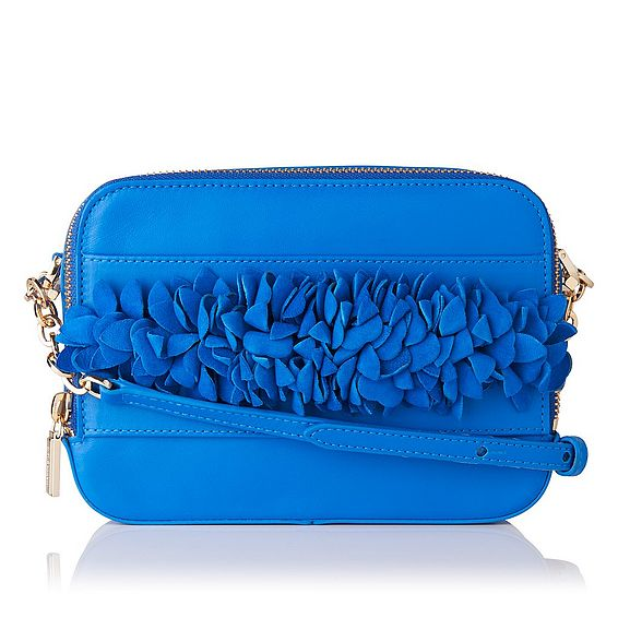 Mia Blue Nappa Leather Shoulder Bag