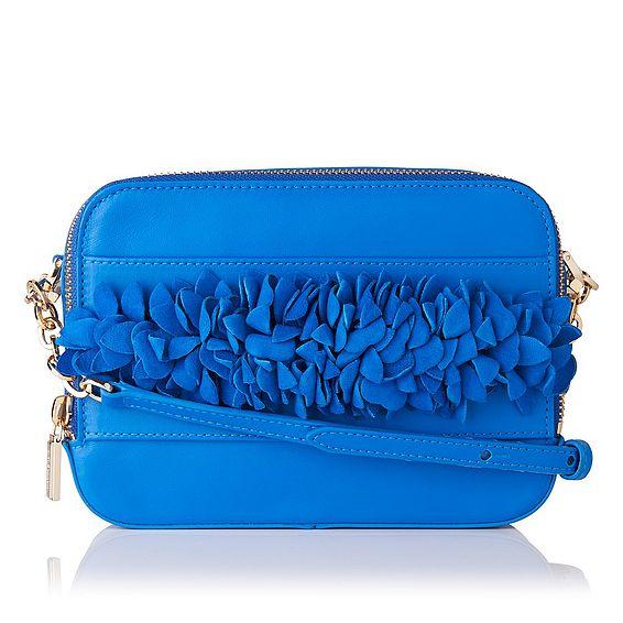 Mia Blue Nappa Leather Shoulder