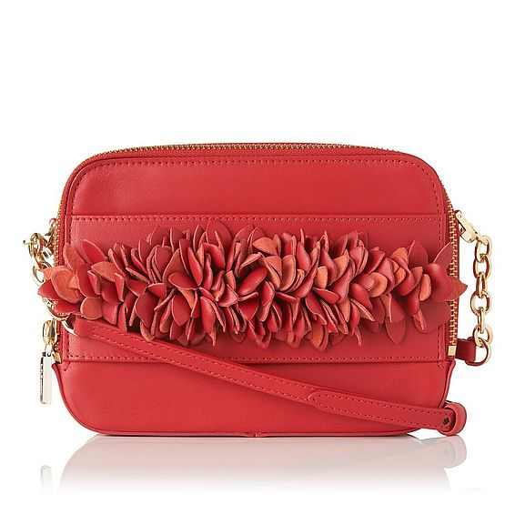 Mia Red Nappa Leather Shoulder Bag