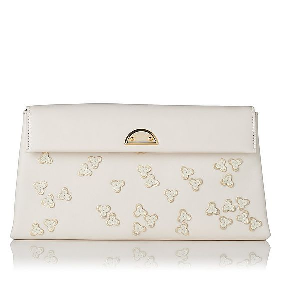 Miriam Cream Nappa Leather Clutch