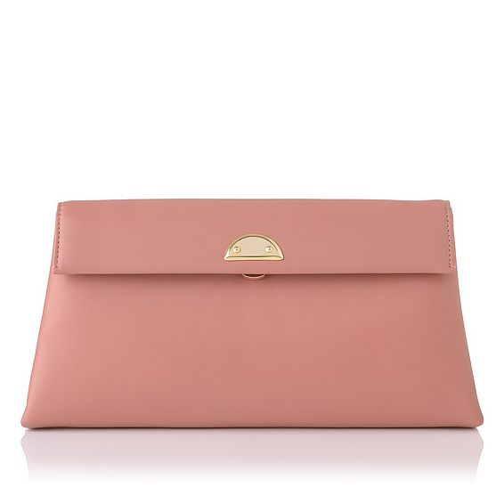 Miriam Dark Pink Leather Clutch
