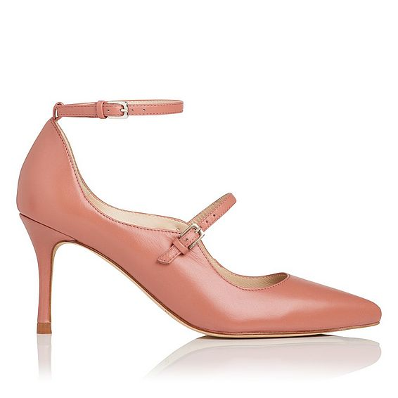 Natalia Pink Leather Closed Courts