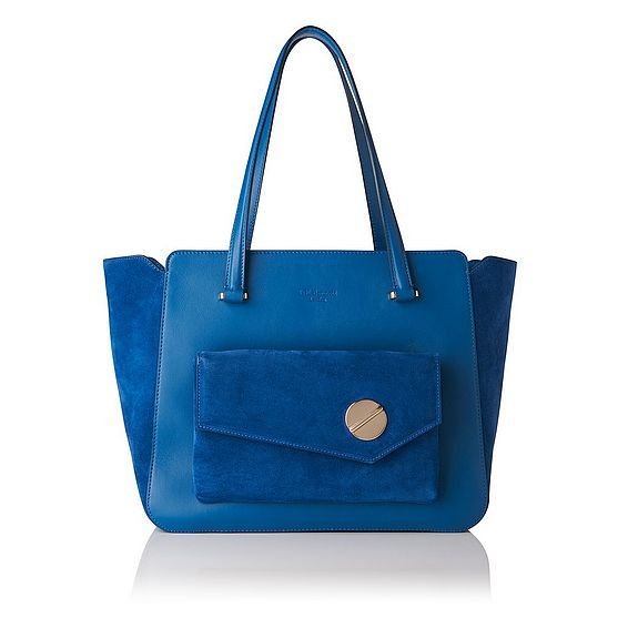 Natasha Blue Suede Tote Bag