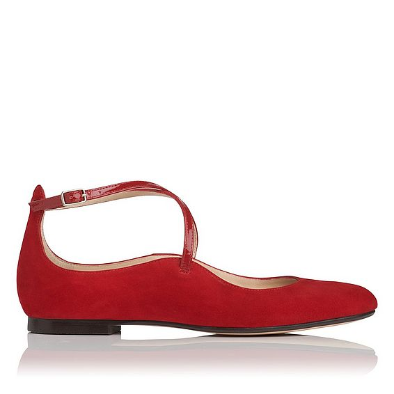 Nessie Red Suede Flats