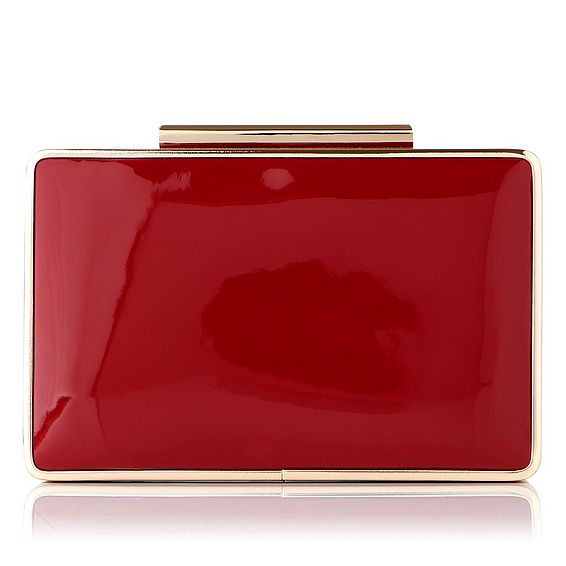 Nina Roca Red Patent Clutch