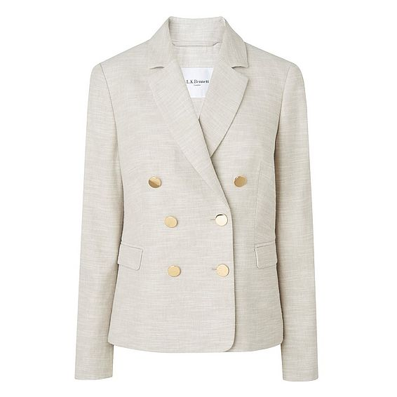 Nixie Natural Linen Mix Jacket