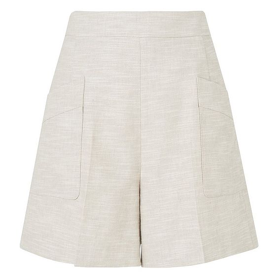 Nixie Natural Linen Mix Shorts