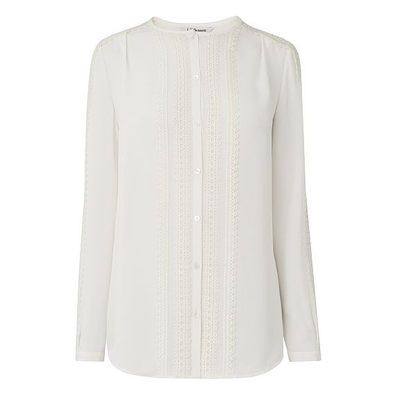 Paloma Cream Silk Mix Woven Top