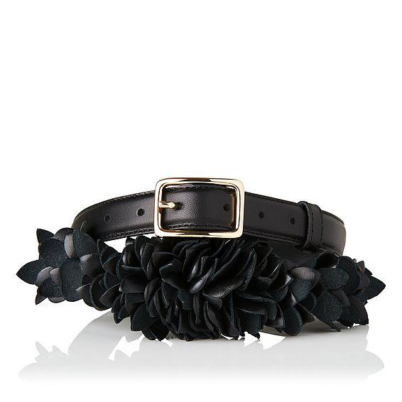 Peony Black Nappa Leather Belts