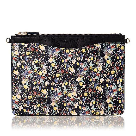 Rachel Navy Printed Leather Cosmetic Bag