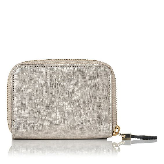 Rea Metallic Leather Purse