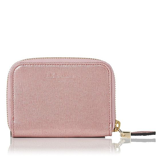 Rea Metallic Pink Leather Purse