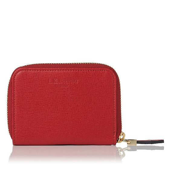 Rea Red Leather Purse