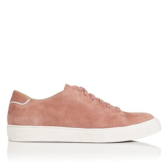 Reese Dark Pink Suede Trainers