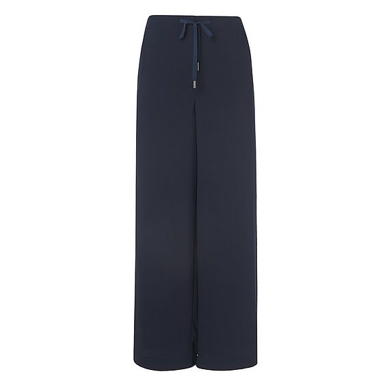 Regan Navy Woven Wide Leg Trousers