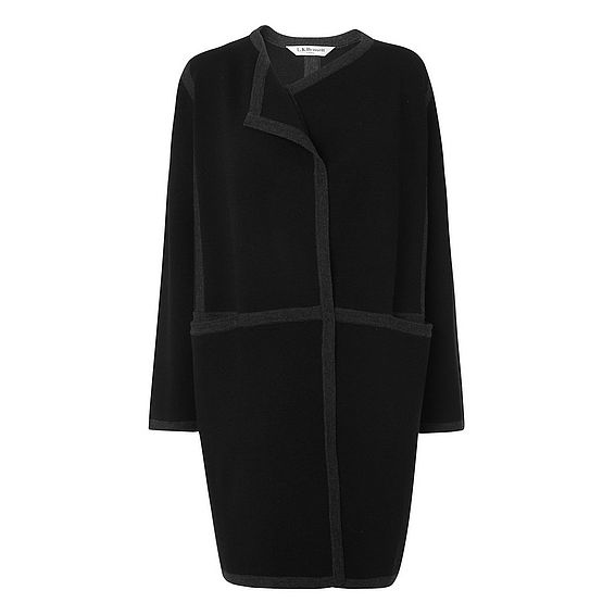 Rene Black Wool Mix Cardigan