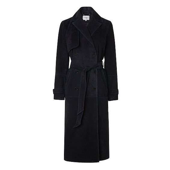 Riley Sloane Blue Leather Coat