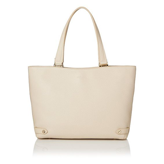 Roberta Cream Grained Leather Tote