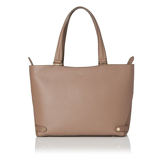 Roberta Brown Grained Leather Tote Bag